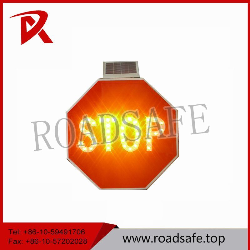 Road Safety Aluminum Flashing Sign Solar Warning Traffic Signs and Symbols
