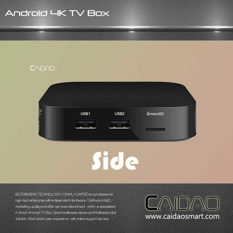 Custom Made Smart Streaming Android6.0/7.0 Marshmallow TV Box S905/S905X Quad Core 2+8 Tvbox