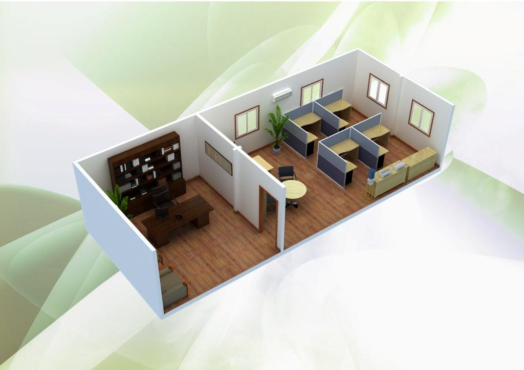 Container prefabricado house con galvanized steel frame - Casa prefabricada acero ...
