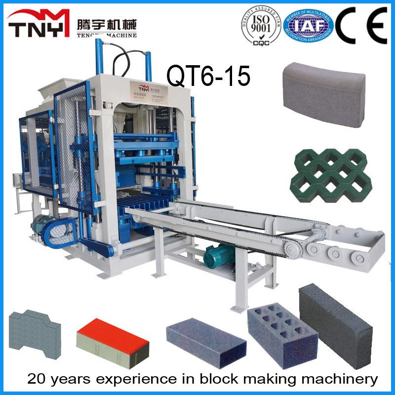German Technology Fully Automatic Brick Making Machine Qt6-15