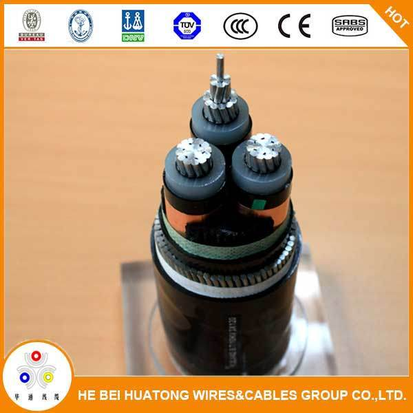 Single Core XLPE Insualted Copper Wire Armour 11kv Aluminum Power Cable