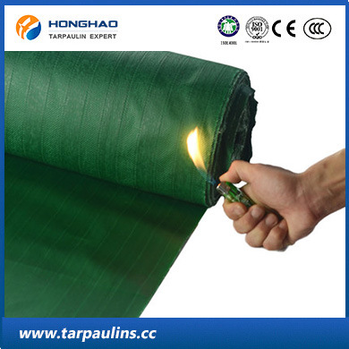 High Strength PVC Laminated Glass Fiber Fireproof/Waterproof Fabric