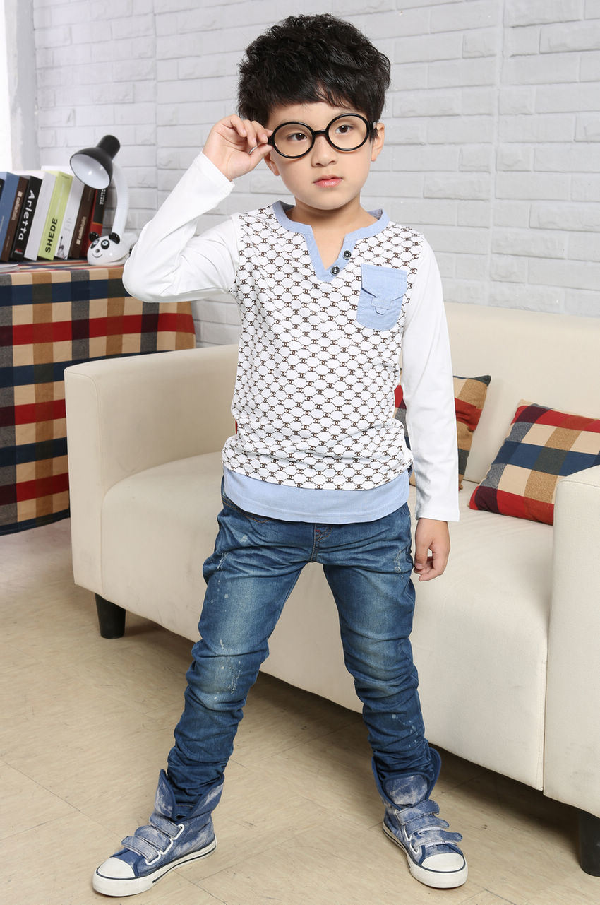 China Fashion Latest Design Boy Clothing Handsome Boy Children Clothes With Long Sleeve Tya