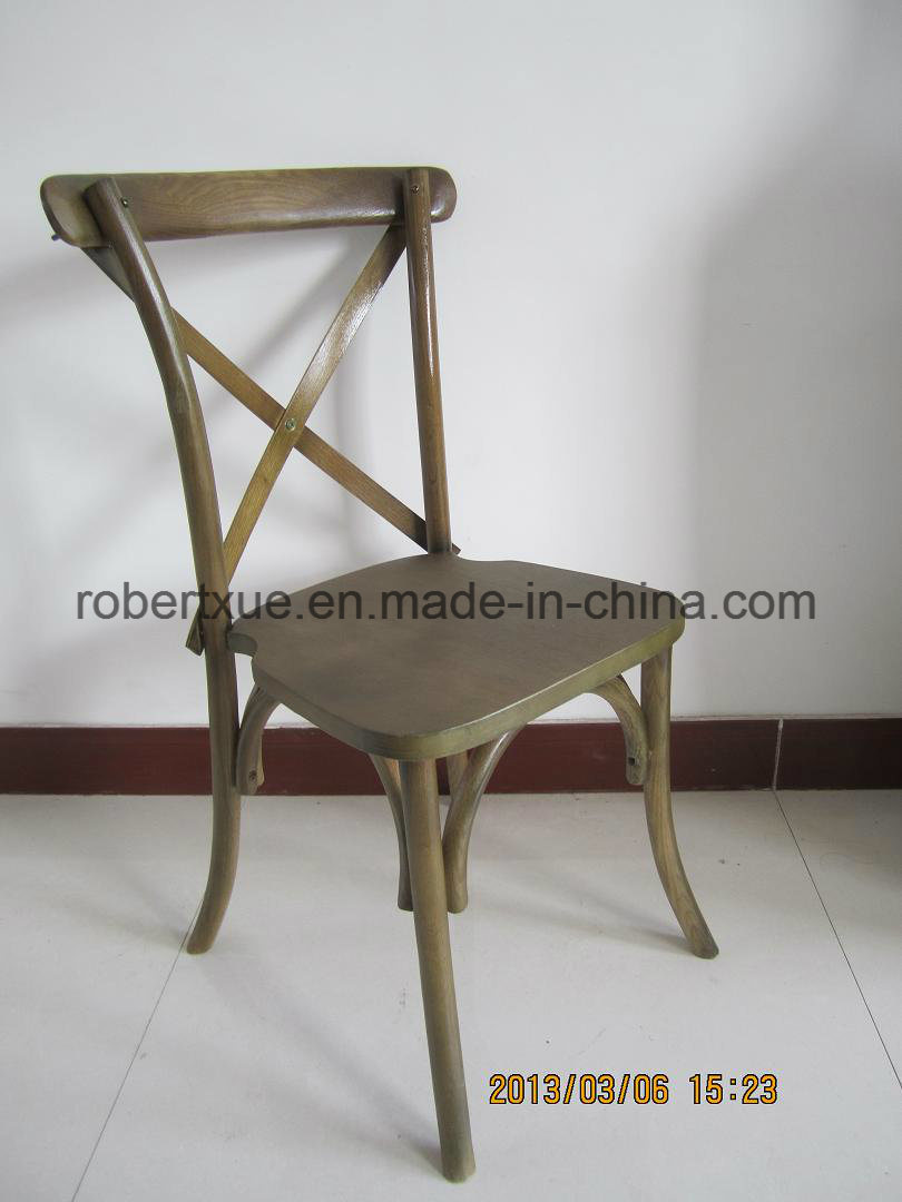 Wooden Cross Back Chair for Wedding