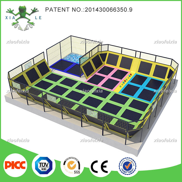 Super Size Professional Manufacturer Large Indoor Gymnastic Commercial Trampoline Park for Sale
