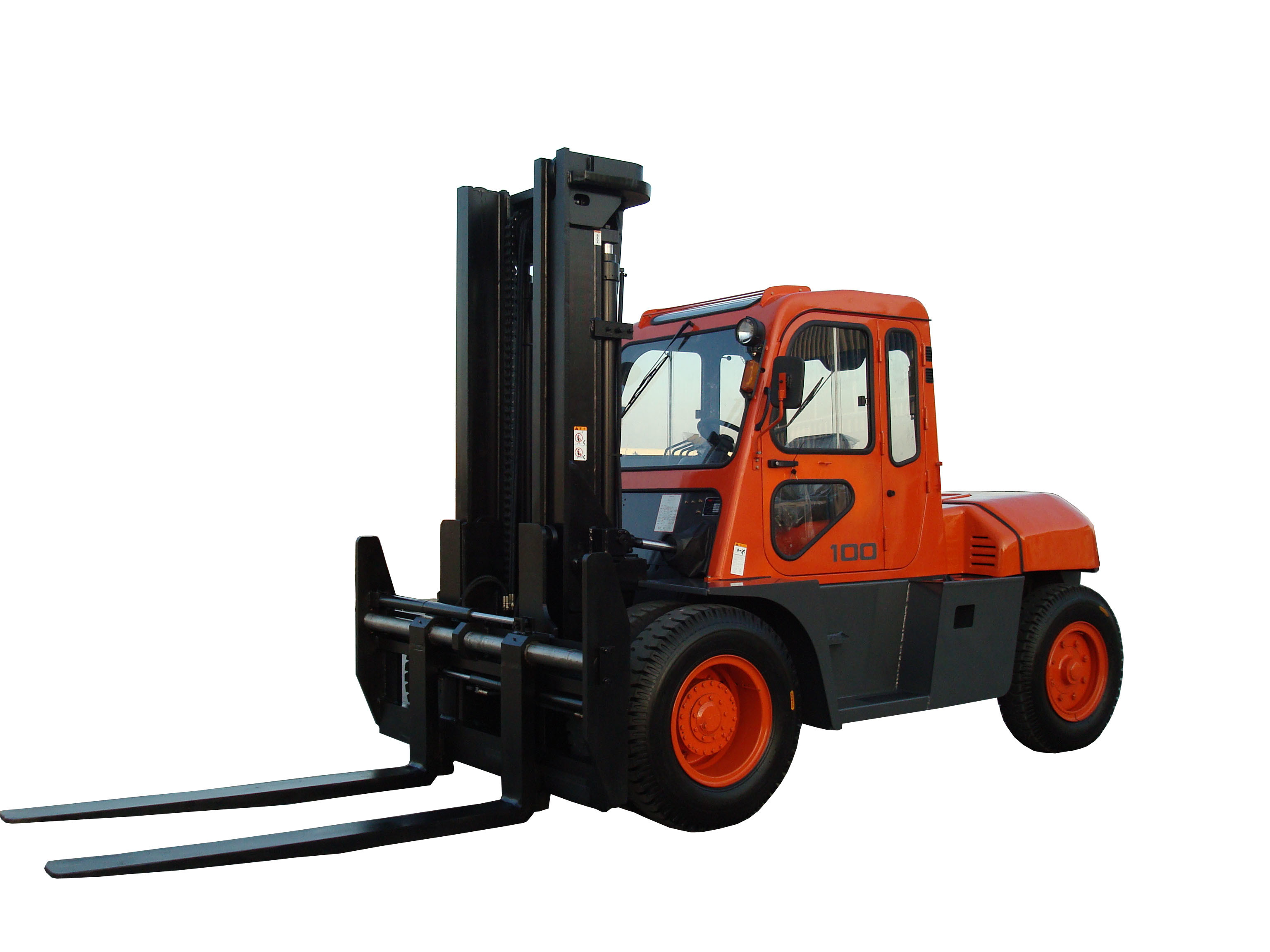 China 10ton Isuzu Engine Diesel Forklift Truck with Cab