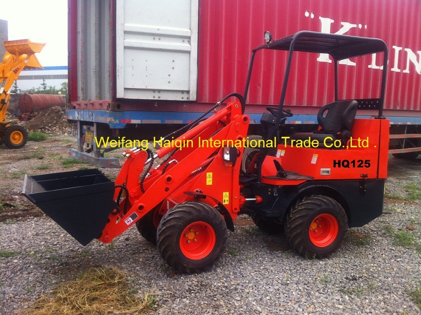 CE Hot-Selling Mini Wheel Loader (HQ125) with Perkins Engine