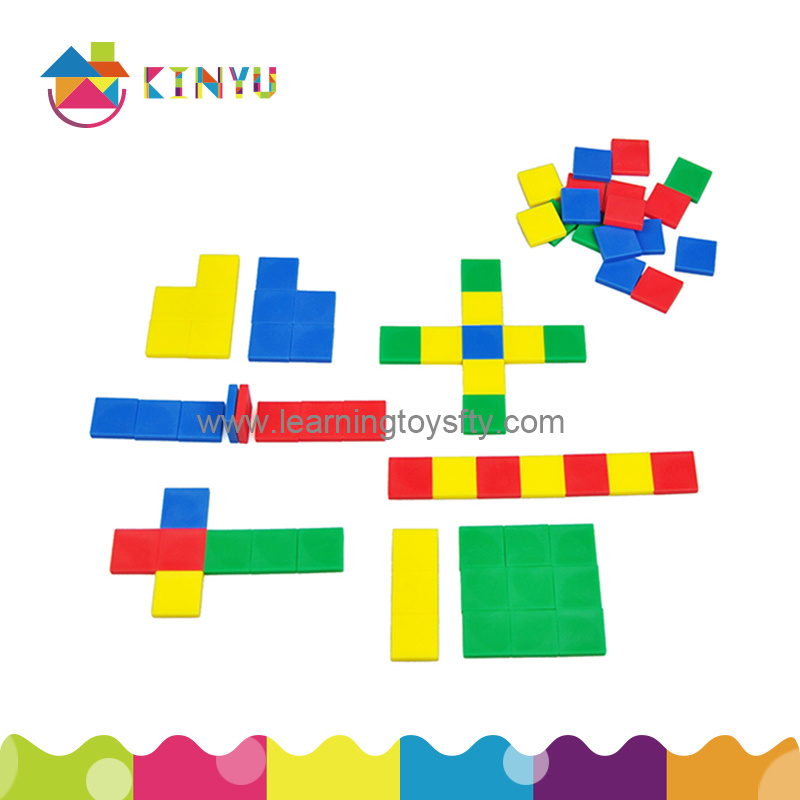 Math Manipulatives Inch Color Tiles for Kids Education