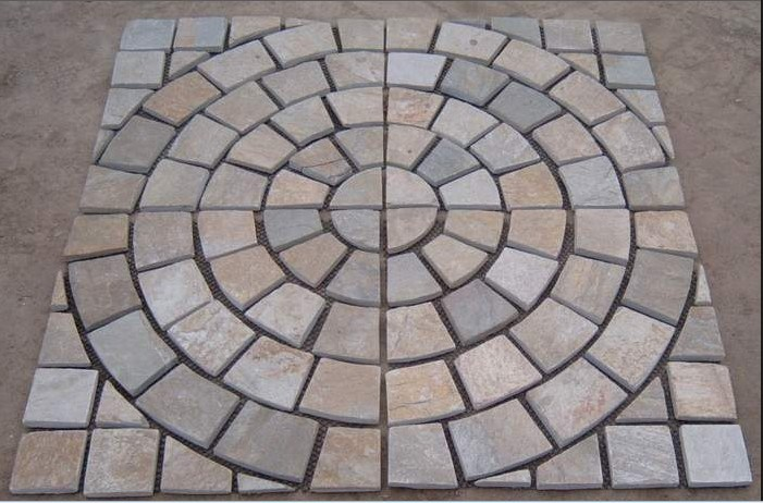 Natural Slate Mosaic Floor Tile China Slate Mosaic Slate Tile