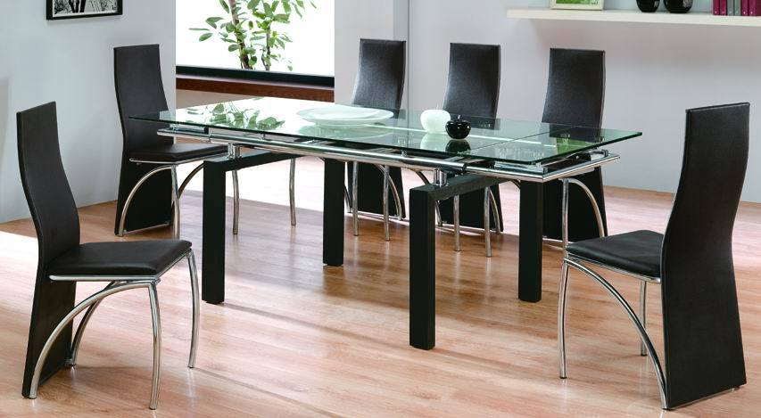 Glass top round dining tables best dining table ideas for Dining room glass table