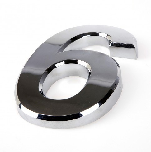 China self adhesive chromed house numbers for buildings for Self adhesive house numbers and letters