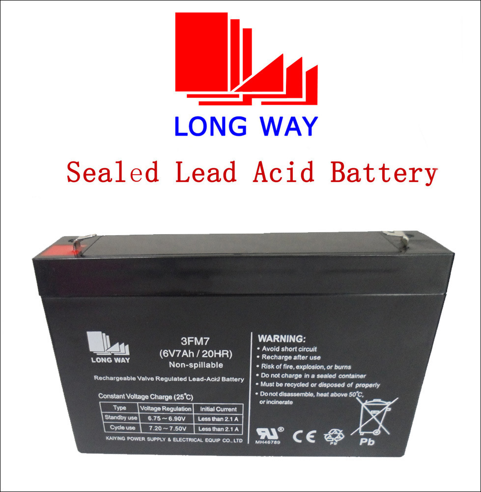 6V7ah Rechargeable Television Sealed Lead Acid Battery