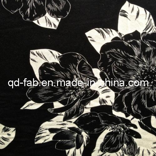 Rayon/Spandex Printed Jersey Fabric (QF13-0700)