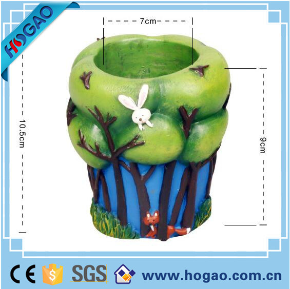 Hand-Made Resin Flower Pot for Garden