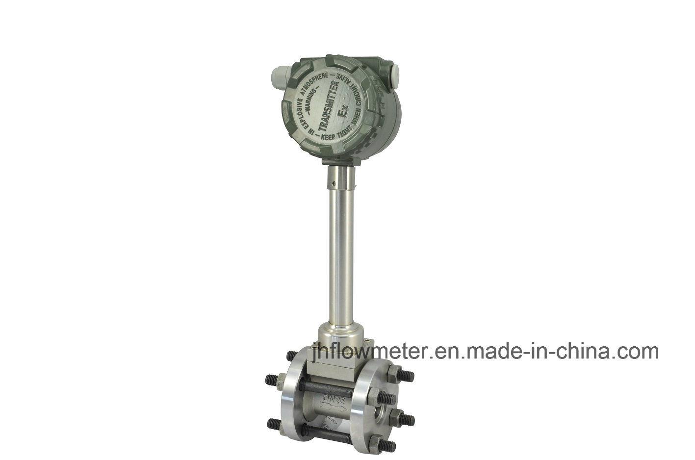 High Temperature Gas Steam Liquid Flowmeter with Flange Connect