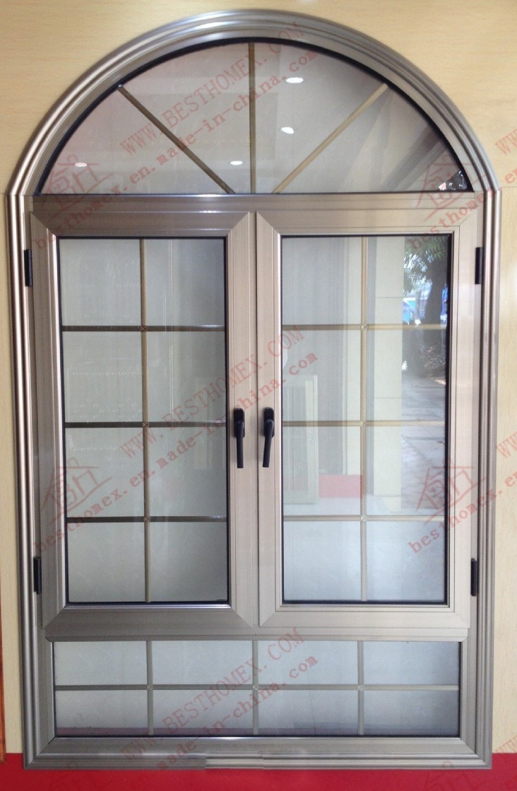 China PVDF Coating Aluminum Arch Window (BHA-CWA17) Photos ...