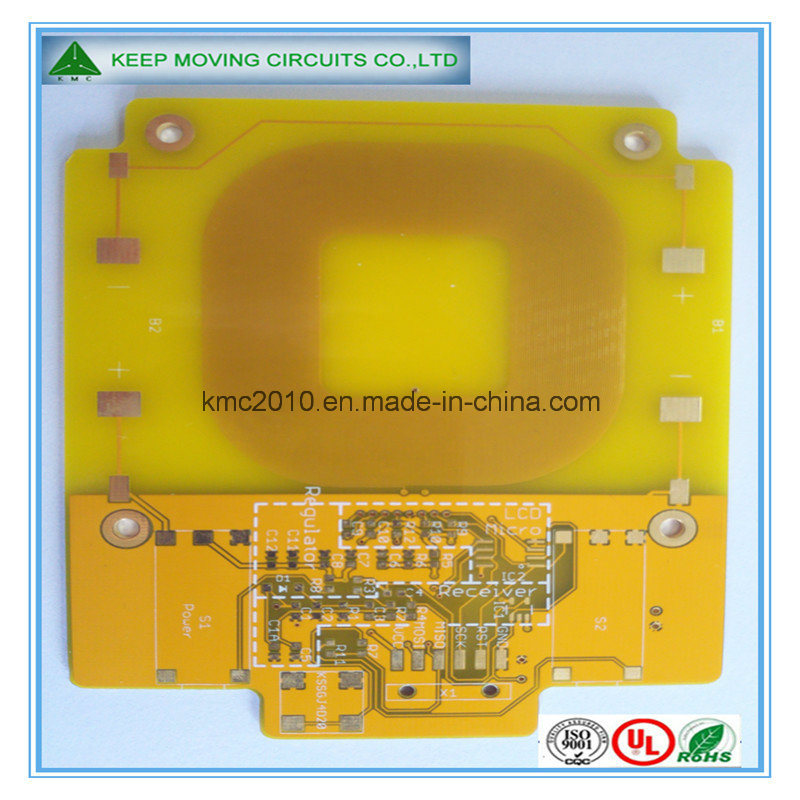 Fr4 2layer PCB Board with Yellow Sodermask White Silkscreen Quick-Turn