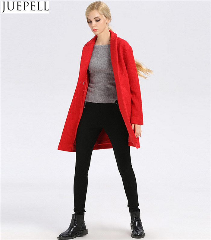 Women Winter Coat Women Fashion Long Wool Winter Coat