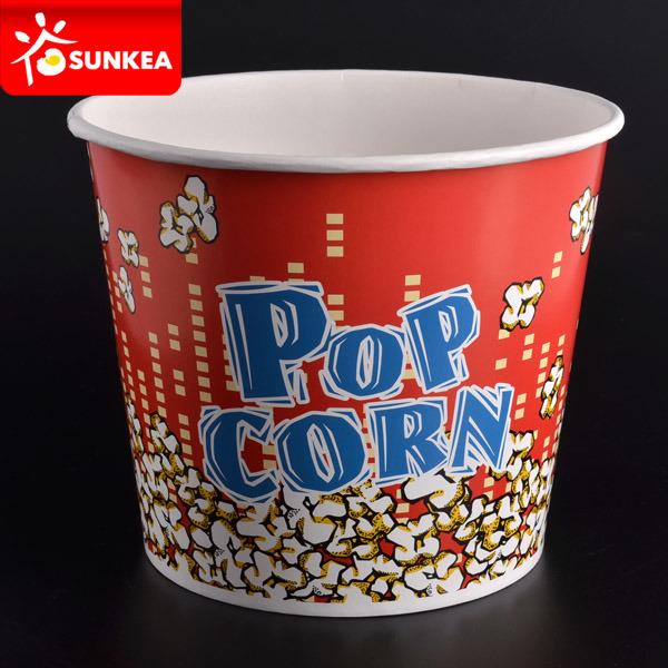 Custom Logo Square Bottom Paper Popcorn Box