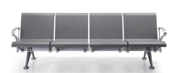 Polyurethane PU Waiting Chair, Steel Wait Chairs H68-3