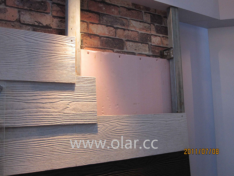 Calcium Silicate Board -Wood Grain Siding, Wall Decoration Panel