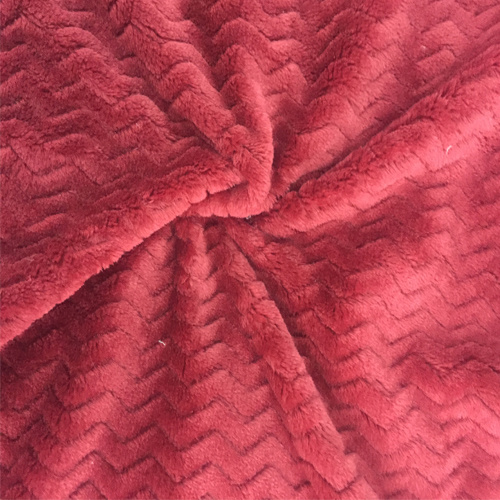 100% Polyester Wave 2jacquard Flannel Fleece