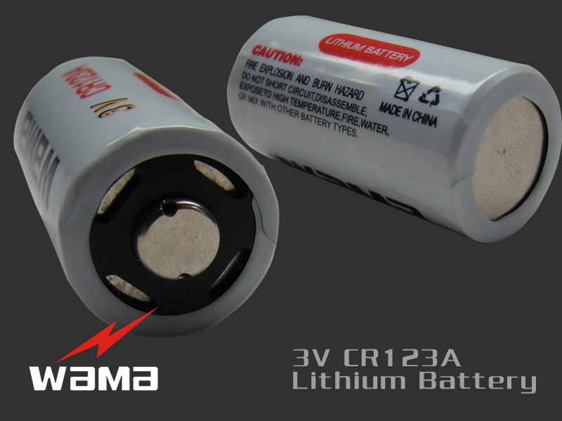 High Power Cylindrical Cr123A Lithium Battery 3V for Professional Camcorder