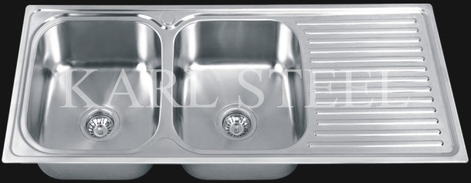 Double Bowls Stainless Steel Sink (7741)