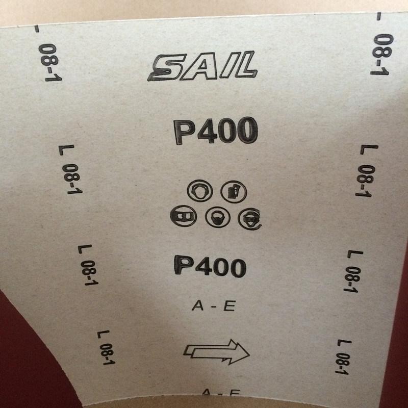 Aluminium Oxide Imported E-Wt Craft Sandpaper for Wood Polishing a-E 400#