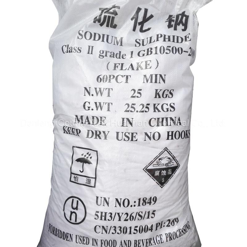 Sodium Sulphide 60%Min Flakes