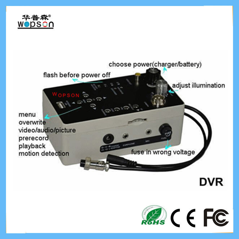 Push Rod Video CCTV Camera for Drain Pipe Inspection