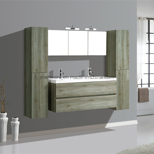 Hot Sale Bath MDF Furniture, Double Bowl Bathroom Vanities