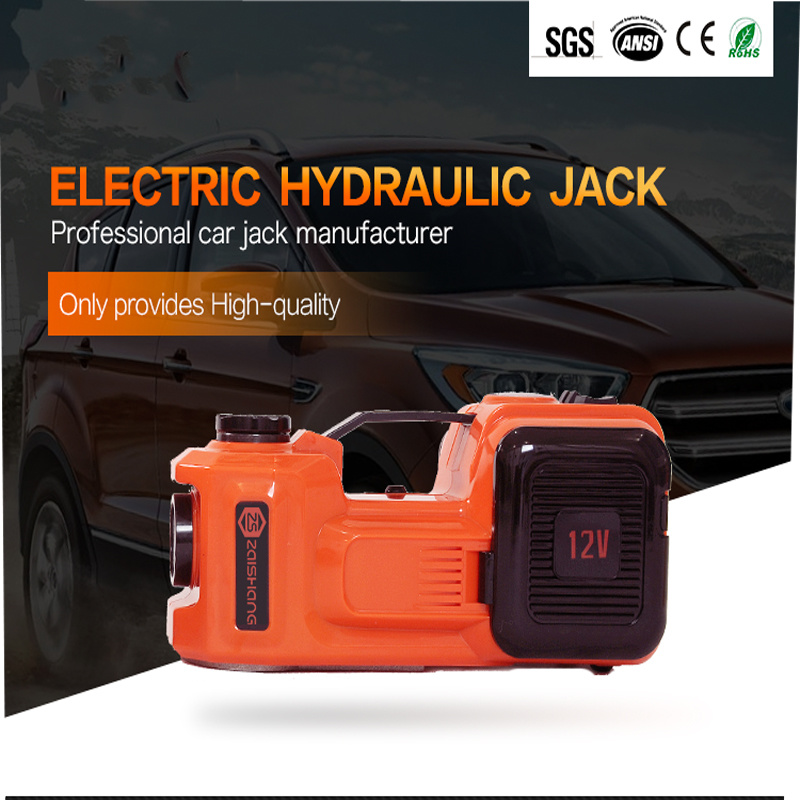 Portable 12V Electric Hydraulic Lift Car Jack with Air Compressor
