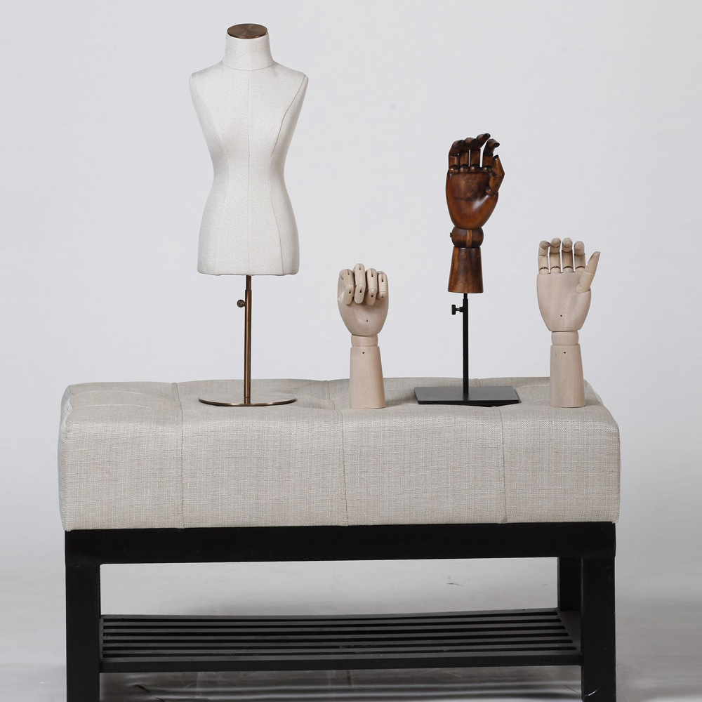 High Grade Fiberglass Mini Mannequin with Linen Covered