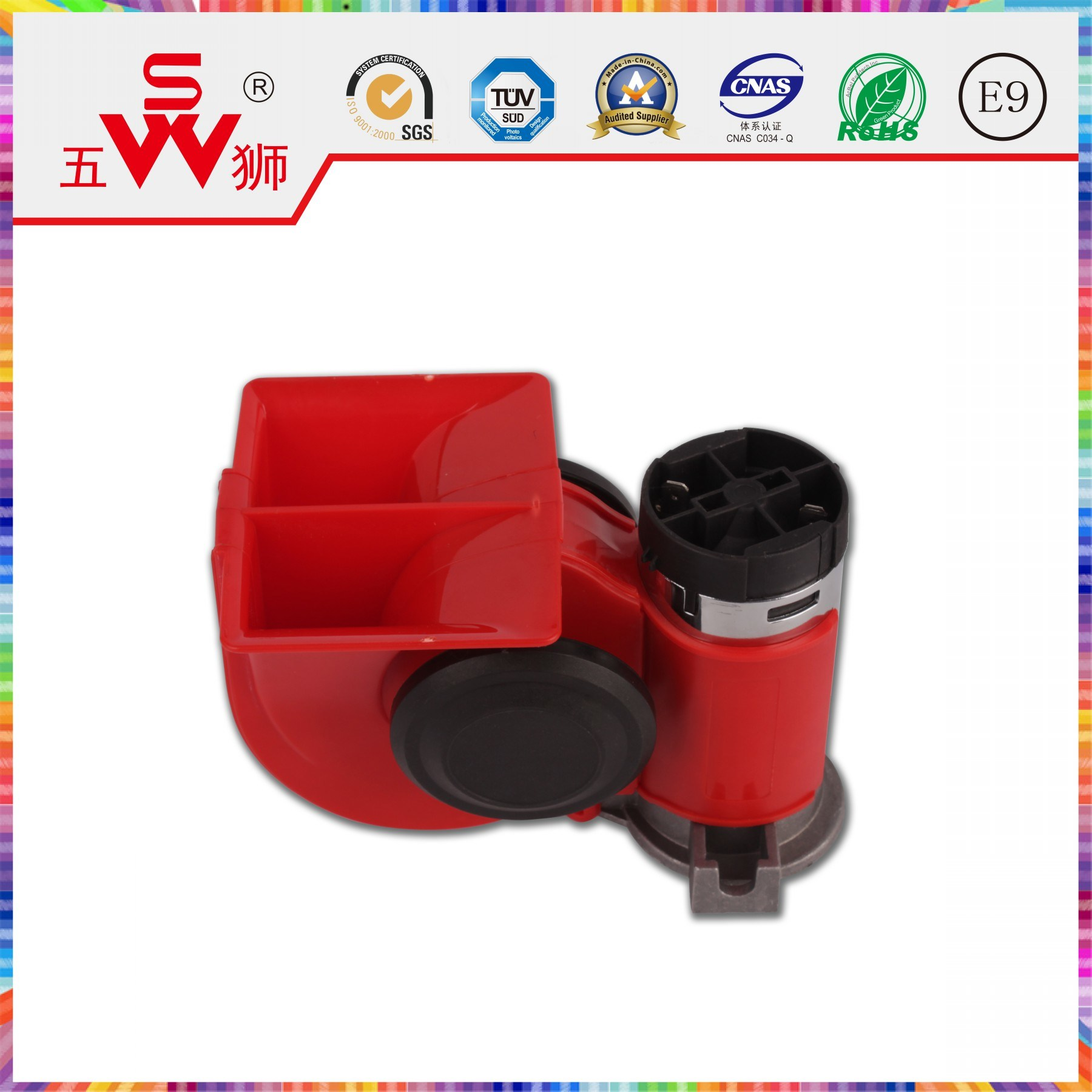 Polygonal 12V ABS Horn Auto Air Horn