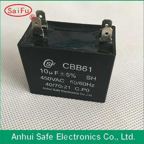 Metalized Polypropylene Film Cbb61 Capacitor 450VAC 1.2UF