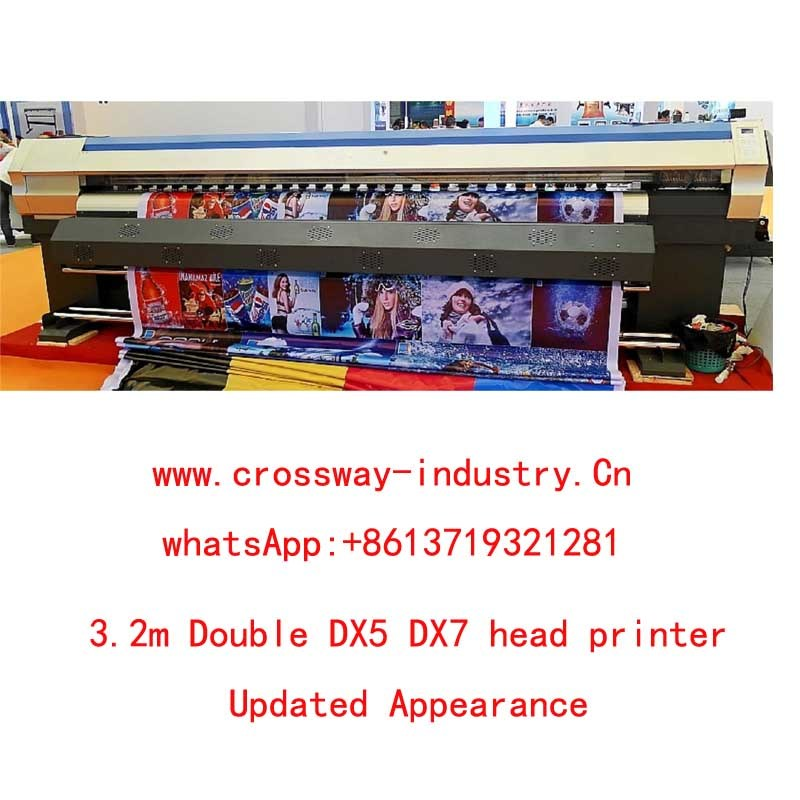 3.2m Double Dx5 Dx7 Head Eco Solvent Outdoor Printer