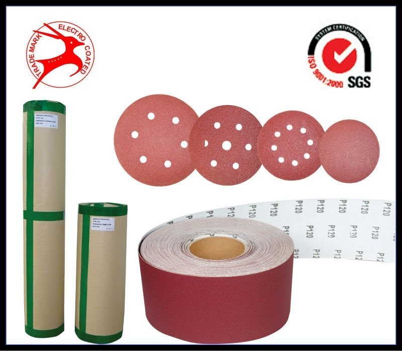 Wood Grinding Aluminum Oxide Magic Tape Disc A-D