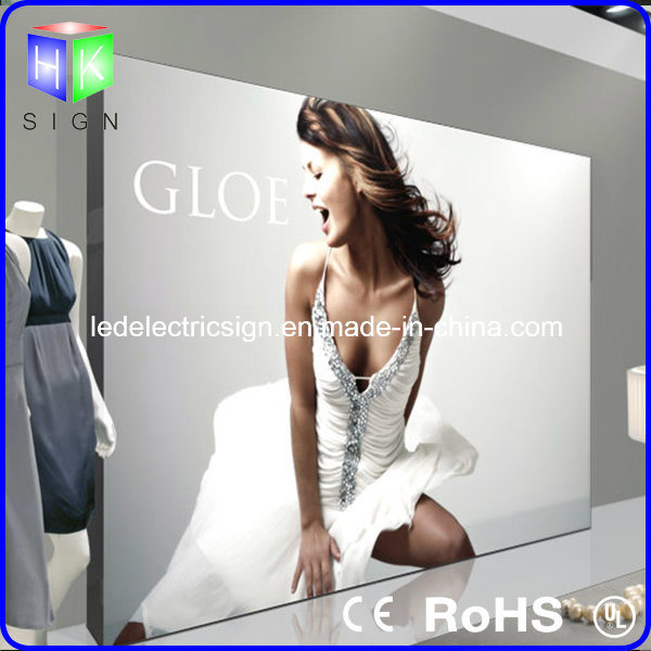 Wall Mounted Advertising LED Sign with Picture Light for Art Work Advertising
