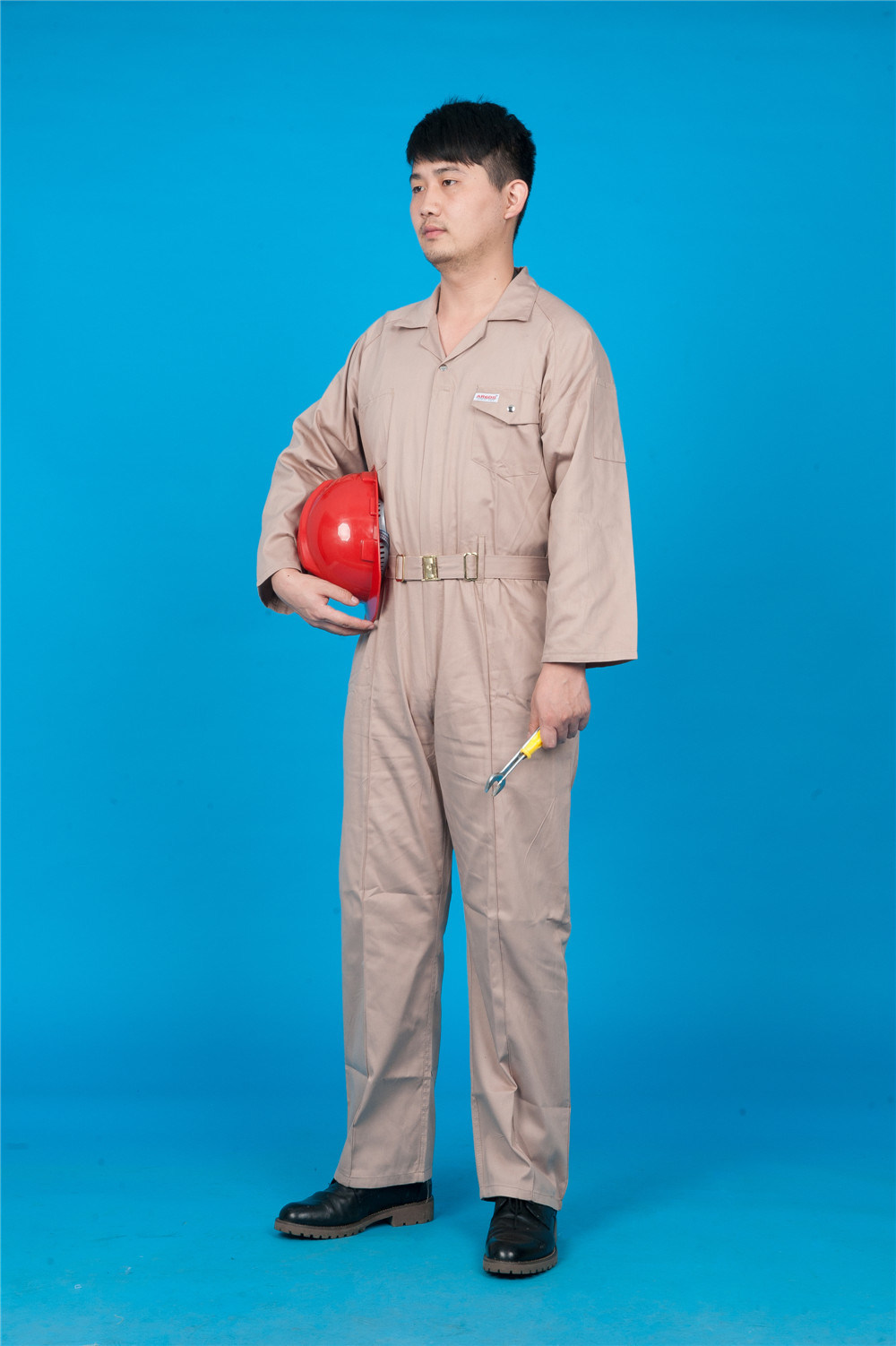 65% Polyester 35%Cotton Long Sleeve Safety Cheap Workwear Coverall (BLY1028)