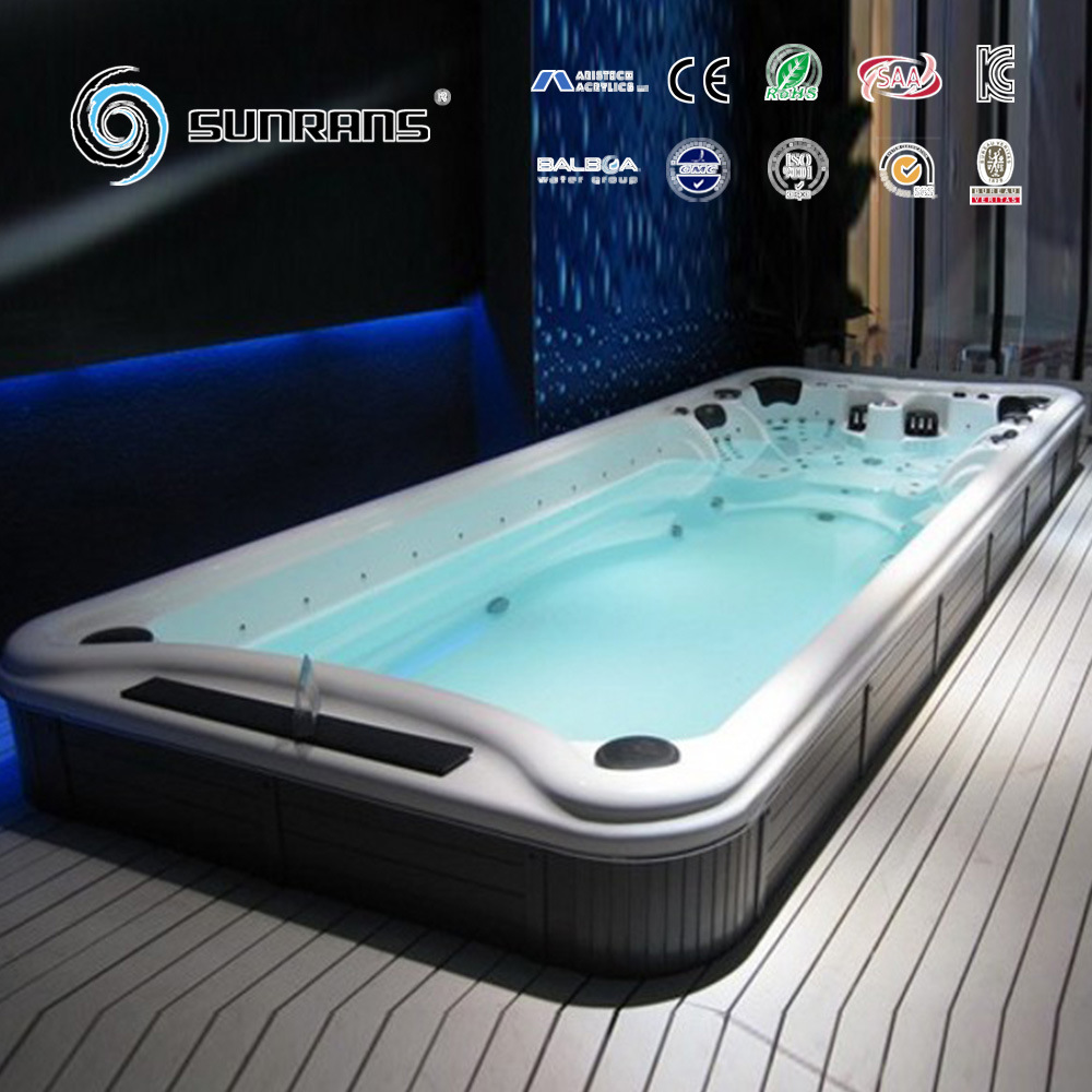 China Hot Sale Acrylic Above Ground Endless Pool Swimming SPA - Above ground endless pool
