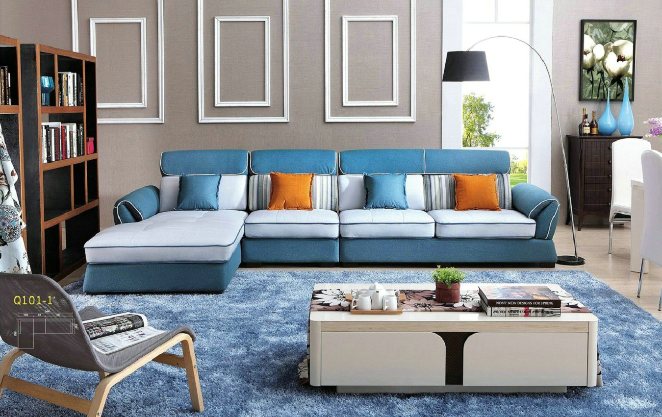 Pinyang Living European Style Modern Fabric Sofa Home Sof 101