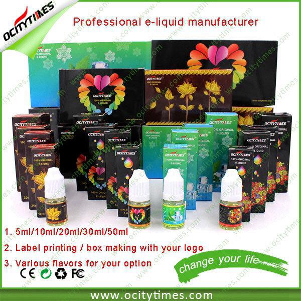 Ocitytimes Original 0mg Nicotine E Liquid/E-Liquid/E Juice for E Cigarette