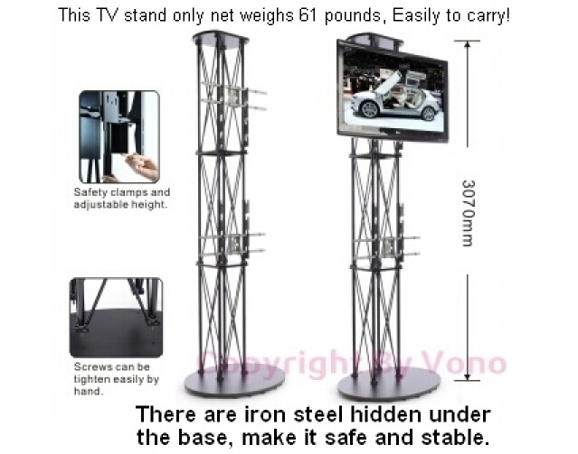 Exibition Display Trade Show Truss Tall TV Stand