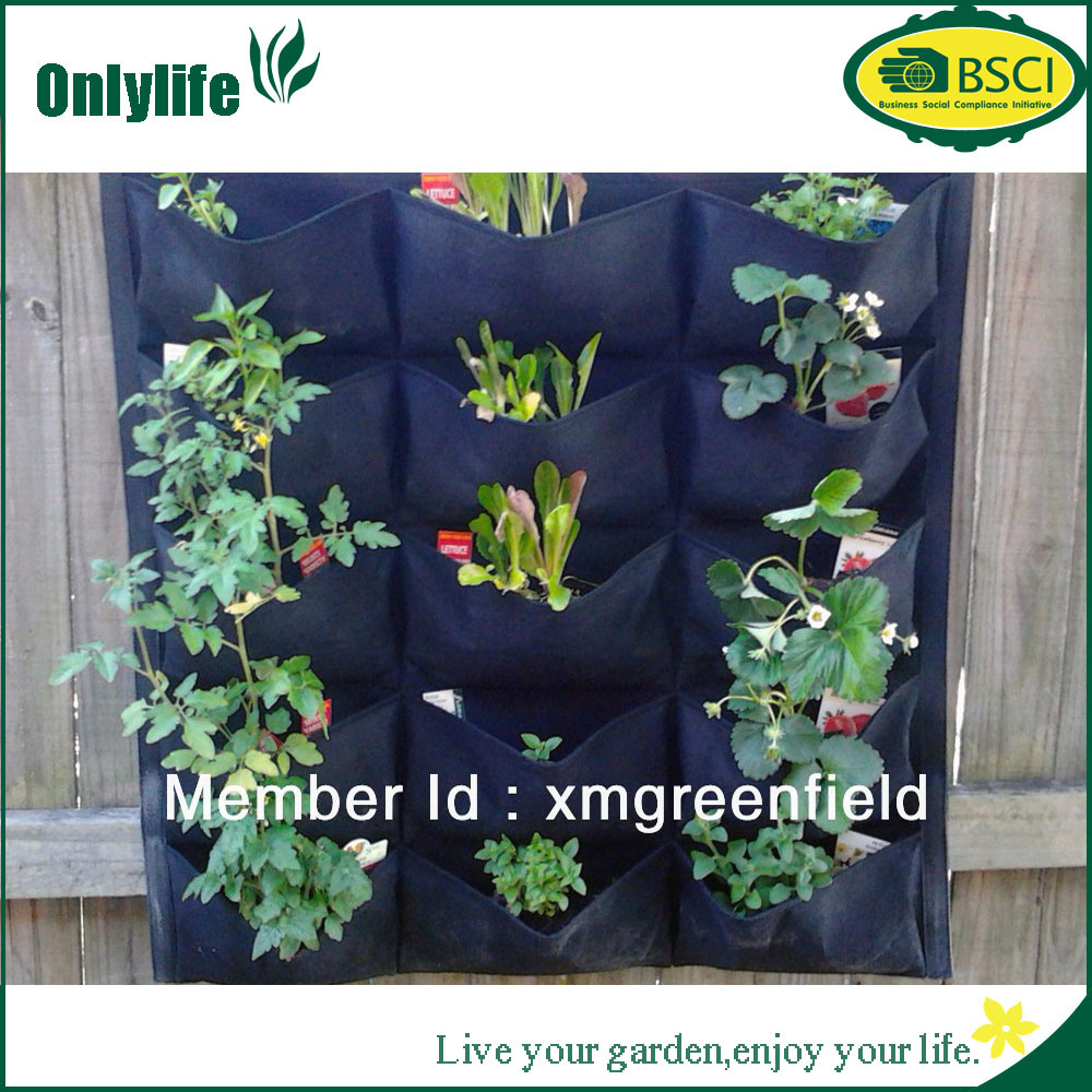 Onlylife PE Fabric Vertial Hanging Planter Garden Grow Bag