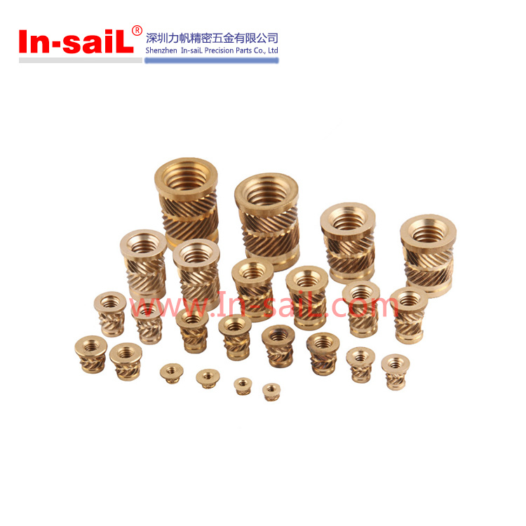 2016 Wholesale Brass Knurled Threaded Insert Nut Manufacturer