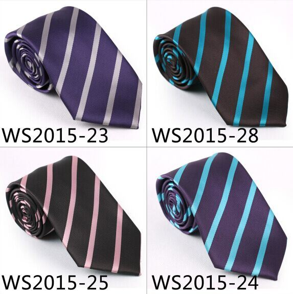 New Design Fashionable Striped Silk/Polyester Gift Tie (6224-1)