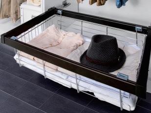 Wardrobe Furniture Steel Storage Basket for Sare