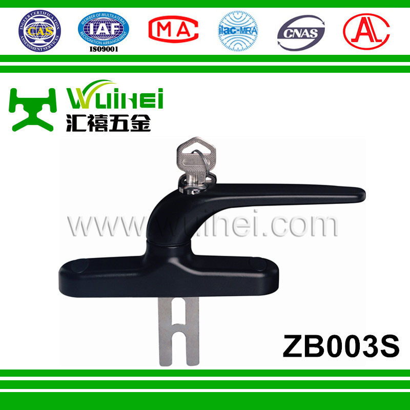 High Quality Customized PVC Zinc Alloy Door Handle Made in China (ZB003S)
