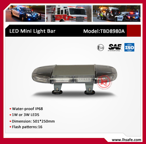 Oval LED Mini Warning Light Bar (TBD8980A)